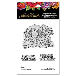Stampendous - Laurel Burch - Caballos Cling Rubber Stamp Set