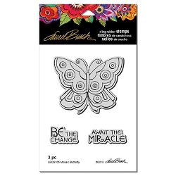 Stampendous - Laurel Burch - Mosaic Butterfly Cling Rubber Stamp Set
