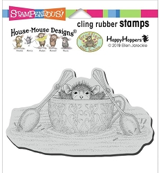 Stampendous - Cling House Mouse Teacup Paddler Rubber Stamp