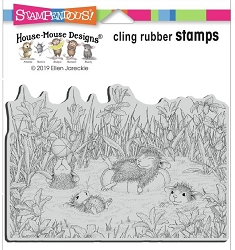Stampendous - Cling House Mouse Pool Play Rubber Stamp