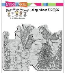 Stampendous - Cling House Mouse Drying Herbs Rubber Stamp