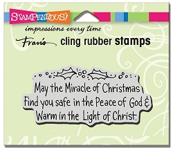 Stampendous - Cling Mounted Rubber Stamp - May The Miracle