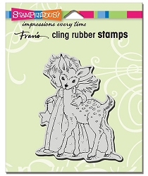 Stampendous - Cling Mounted Rubber Stamp - Cherub Deer