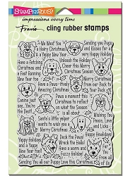 Stampendous - Cling Mounted Rubber Stamp - Happy Howlidays