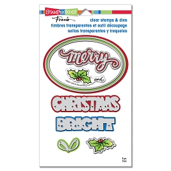 Stampendous - Christmas Bright Clear Stamps and Dies Set