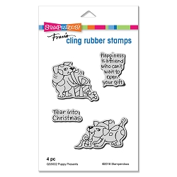 Stampendous - Cling Mounted Rubber Stamp Set - Puppy Presents