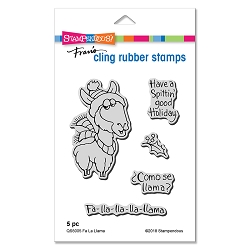 Stampendous - Cling Mounted Rubber Stamp Set - Fa La Llama