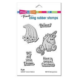 Stampendous - Cling Mounted Rubber Stamp Set - Unicorn Believe