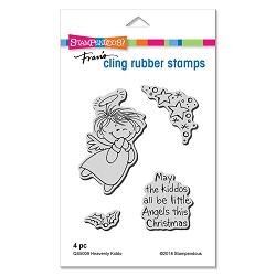 Stampendous - Cling Mounted Rubber Stamp Set - Heavenly Kiddo