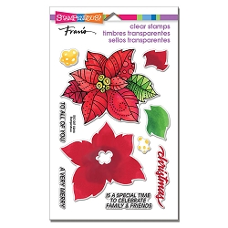 Stampendous Perfectly Clear Stamp - Poinsettia Parts