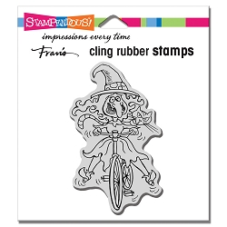 Stampendous - Cling Wobbly Witch Rubber Stamp