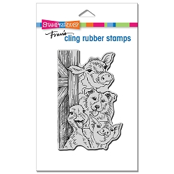 Stampendous - Cling Funny Farm Rubber Stamp
