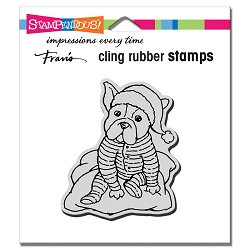 Stampendous - Cling Pajama Pup Rubber Stamp