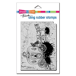 Stampendous - Cling Scary Carriage Rubber Stamp