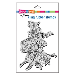 Stampendous - Cling Cardinal Pair Rubber Stamp
