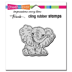 Stampendous - Cling Petite Pachyderm Rubber Stamp