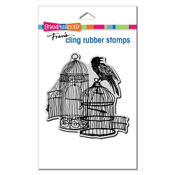 Stampendous - Cling Uncaged Raven Rubber Stamp