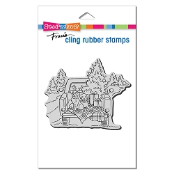 Stampendous - Cling Truck Ride Rubber Stamp