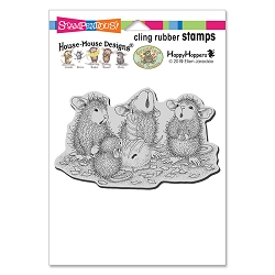 Stampendous - Cling House Mouse Bon Bon Birthday Rubber Stamp