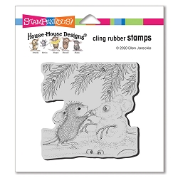 Stampendous - Cling House Mouse Snowmouse Rubber Stamp