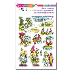 Stampendous - Gnome Beach Perfectly Clear Stamps