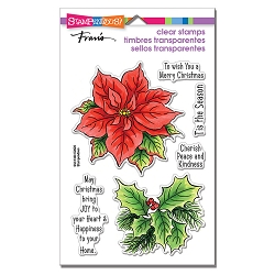 Stampendous - Poinsettia Season Perfectly Clear Stamps