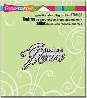 Stampendous Cling Mounted Rubber Stamp - Muchas Gracias