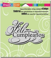 Stampendous Cling Mounted Rubber Stamp - Feliz Cumpleanos :)