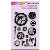 Stampendous Perfectly Clear Stamp - Steampunk Gears