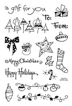 Stampendous Perfectly Clear Stamp - Tiny Christmas Tag Set