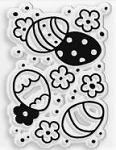 Stampendous Perfectly Clear Stamp - Patterned Eggs