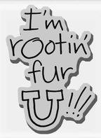 Stampendous Cling Mounted Rubber Stamp - Rootin' for U