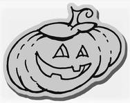 Stampendous Cling Mounted Rubber Stamp - Pumpkin