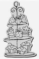 Stampendous Cling Mounted Rubber Stamp - Tower of Treats