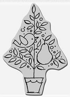 Stampendous Cling Mounted Rubber Stamp - Partridge Pear Tree