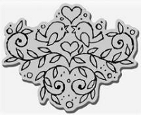 Stampendous Cling Mounted Rubber Stamp - Tweet Swirls