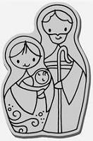 Stampendous Cling Mounted Rubber Stamp - Nested Nativity