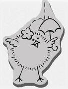 Stampendous Cling Mounted Rubber Stamp - Shower Chick