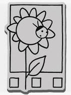 Stampendous Cling Mounted Rubber Stamp - Sunny Window