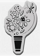 Stampendous Cling Mounted Rubber Stamp - Doo Wop Bouquet