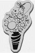 Stampendous Cling Mounted Rubber Stamp - La Di Da Bouquet
