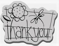 Stampendous Cling Mounted Rubber Stamp - Thank You Word