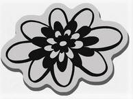 Stampendous Cling Mounted Rubber Stamp - Retro Heavenly Blossom