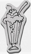 Stampendous Cling Mounted Rubber Stamp - Ice Cream Float