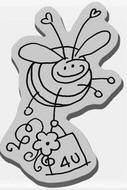 Stampendous Cling Mounted Rubber Stamp - Bee 4U