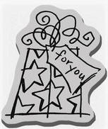 Stampendous Cling Mounted Rubber Stamp - Doodle Gift