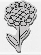 Stampendous Cling Mounted Rubber Stamp - Curly Daisy