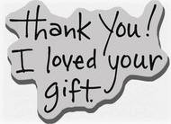 Stampendous Cling Mounted Rubber Stamp - Thank You Gift