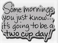 Stampendous Cling Mounted Rubber Stamp -Two Cup A Day