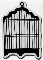 Stampendous Cling Mounted Rubber Stamp - Bold Cage